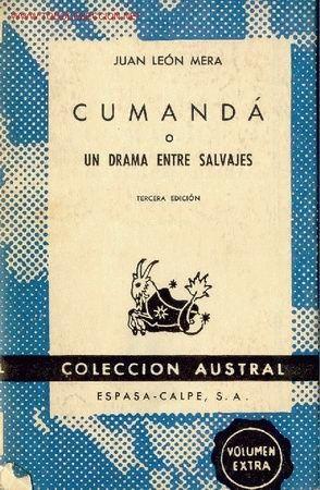 Portada de Cumandá de Juan León Mera