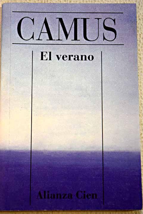 Portada de El verano, de Albert Camus