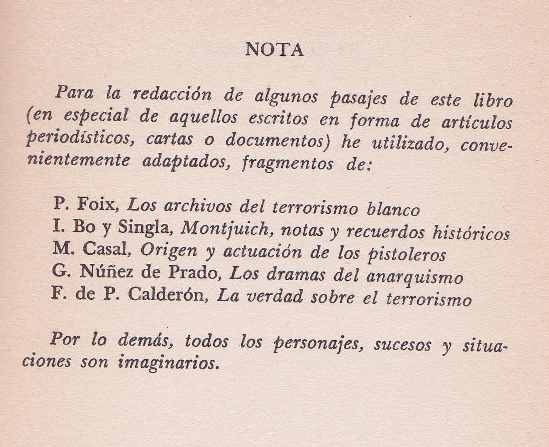 Página escaneada de la 1ª edición de La verdad sobre el caso Savolta