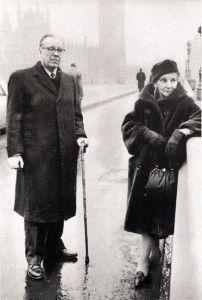 Leonor Acevedo y Jorge Luis Borges en Londres