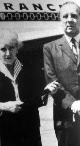 Leonor Acevedo y Jorge Luis Borges en París