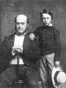 Henry James junto a su padre, con 11 años. Daguerrotipo de 1853