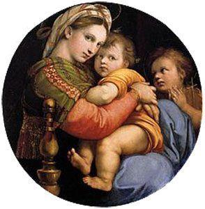 La Madona de la Silla, de Rafael, óleo sobre el que gira el relato La Madona del futuro