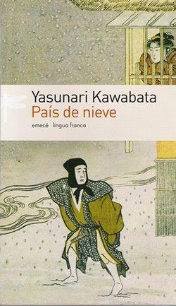 Portada de la novela País de Nieve de Yasunari Kawabata