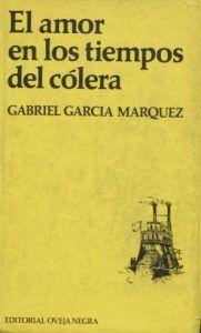Portada de El amor en los tiempos del cólera, de Gabriel García Márquez