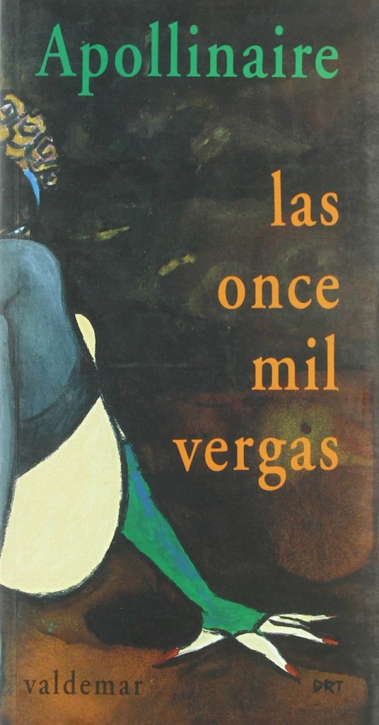 Portada de Las once mil vergas, de Guillaume Apollinaire